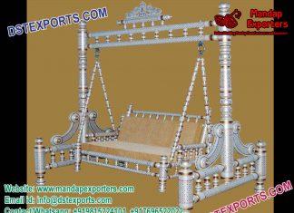 Indian Wedding Mehndi Stage Royal Sankheda Swing