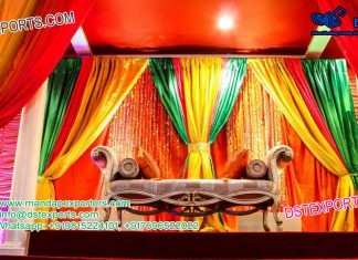Latest Reception Stage Backdrop Curtains