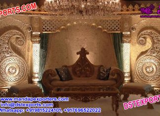 Maharaja Wedding Stage Set Decoration
