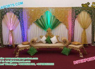 Muslim Wedding Arch Type Backstage Curtains