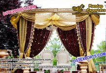 Outdoor Wedding Drapes Mandap Set