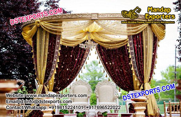 Outdoor Wedding Drapes Mandap Set