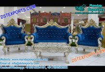 Prominent Wedding Silver Carved Sofa Set