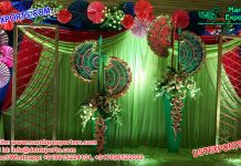 Punjabi Sangeet Stage Decoration With Pakhi