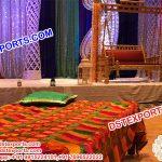 Punjabi Sangeet Stage Phulkari Bagh Bed Sheet