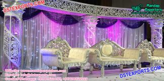 Purple Theme Wedding Crystal Stage
