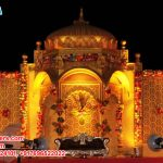 Rajwada Temple Style Wedding Stage