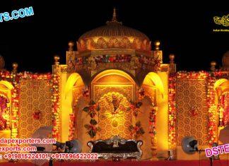 Rajwada Temple Style Wedding Stage