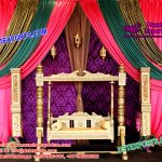 Royal Designed Swing For Mehndi Stage Decoration