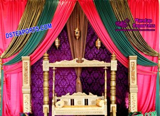 Royal Designed Swing For Mehndi Stage Decoration
