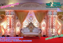 Royal Peacock Theme Designed Wedding Stage