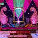 Sangeet Stage Decoration With Beautiful Umbrellas