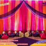 Simple Wedding Mehndi Night Stage Decoration