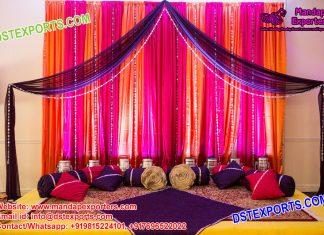 Simple Wedding Mehndi Night Stage Decoration