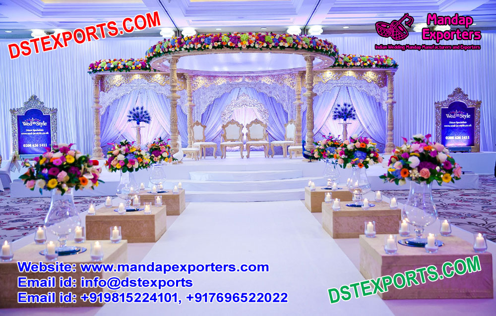 Mandap Decoration Wedding Decorative Picturesque Pillars Www