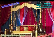 Top Class Mehndi Stage Wooden Swing