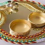 Traditional Golden Thali for Wedding