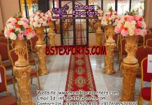 Wedding Hall Entrance Walkway Flower Pot Pillars
