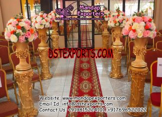 Wedding Hall Entrance Walkway Flower Pot Pillars