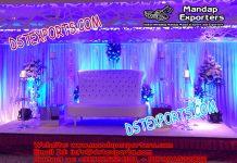 Latest Western Wedding Leather Tufted Sofa