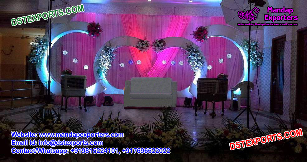 Wedding Stage Decoration With C Style Panels