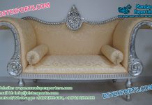 Arabian Wedding Silver Carved Couch