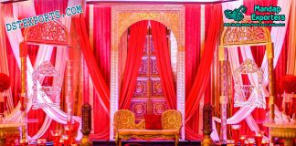 Arabian Wedding Stage Set Decoration