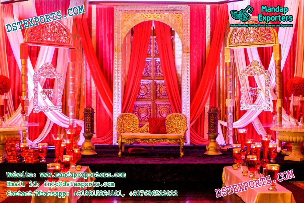 Arabian Wedding Stage Set Decoration