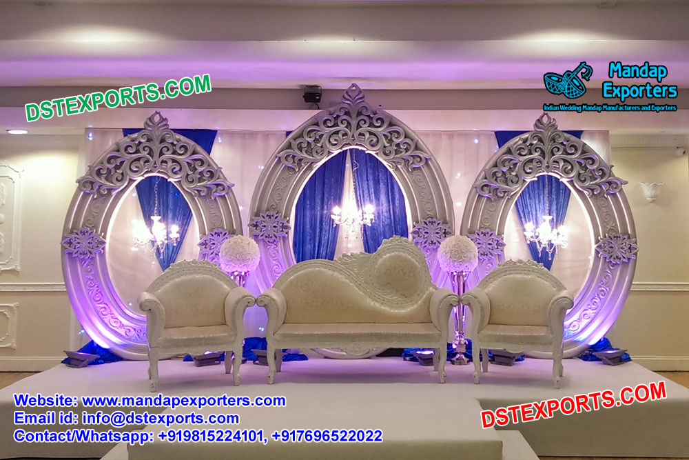 Arabian Wedding Style Oval Panels