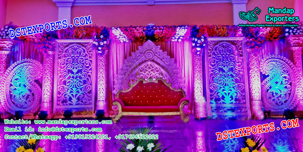 Asian Wedding Stage Backdrop Panels Mandap Exporters