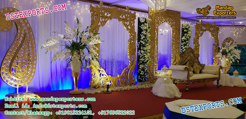 Elegant Wedding Reception Stage Decoration Fiji Mandap Exporters