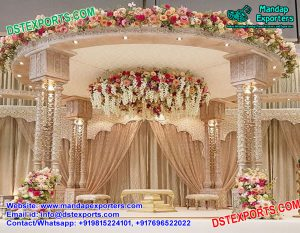 Exclusive Wedding Triple Pole Pillars Mandap