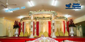 Fiber Crystal Mandap Decor Fiji