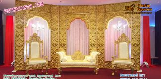 Golden Look Arc Type Backdrop Panels