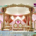 Hindu Wedding Ceremony Wooden Look Fiber Mandap