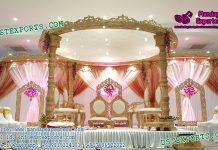 Hindu Wedding Ceremony Wooden Look Fiber Mandap