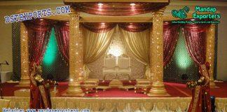 Hindu Wedding Golden Fiber Mandap