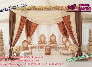 Hindu Wedding Wooden Mandap Chairs