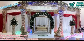 Indian Wedding Crystal Mandap
