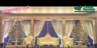 Latest Designed Asian Wedding Stage Decoration