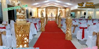 Latest Wedding Aiselway Pillars With Ganesha
