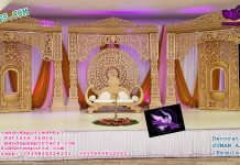 Maharaja Wedding Style Stage Set