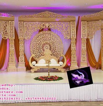 Maharaja Wedding Style Stage Set