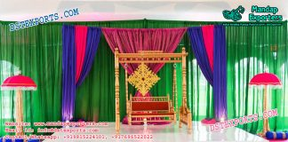 Mehndi Stage Decoration With Swing