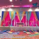 Majestic Mehndi Stage Decor