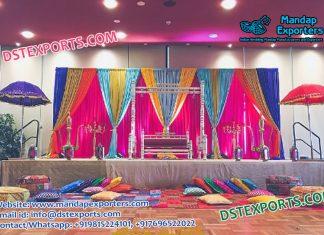 Majestic Mehndi Stage Decor