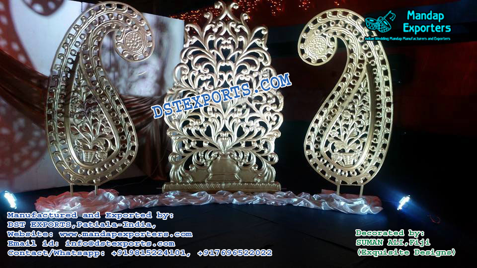 Muslim Wedding Stage Backdrop Panels Decor