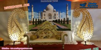 Muslim Wedding Stage Paisleys Decoration