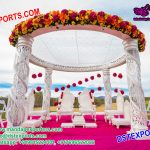 Outdoor Wedding Crystal Mandap