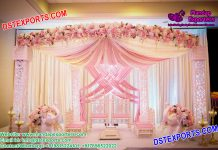 Pink Theme Wedding Mandap Decoration England